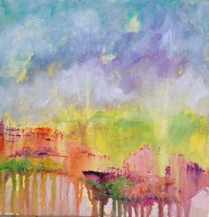 Abstract Acrylic Landscape by BellaCosaArt on Etsy