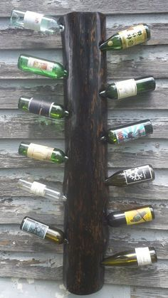 #rustic wine rack #recycled from the beams of an old barn