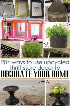 ways to upcycle thrift store decor to decorate your home - House of Hepworths - Brilliant DIY Thrift Store Crafts You Should Totally Try Diy And Crafts Sewing, Crafts To Sell, Diy Crafts, Decor Crafts, Sell Diy, Upcycled Crafts, Upcycled Clothing, Mason Jar Sconce, Food Trucks