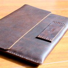 Macbook Pro Retina 13' Heavy Duty Brown Rainbow Oily Leather Sleeve/Cover/Case