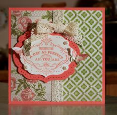 vintage verses stampin' up stamp set | Handmade Card, Stampin Up Vintage Verses - Mothers Day - Birthday ...