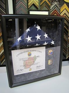 Custom Framed American Flag.