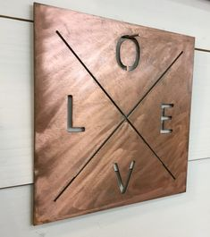 High Quality Love Sign/ Custom Metal Sign/ Fixer Upper Sign/ Home Decor Sign/ Wedding  Gift/ Anniversary Gift/ Gift For Couple/ Made To Order Rustic Sign