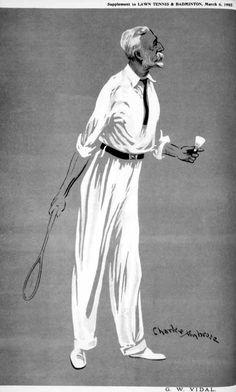 Cartoon of George Badminton, Sports Art, Gentleman
