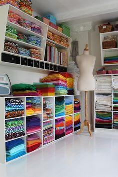 Sewing Room Design, Sewing Room Storage, Sewing Room Decor, Craft Room Design, Craft Room Decor, Sewing Spaces, Sewing Room Organization, Craft Room Storage, My Sewing Room