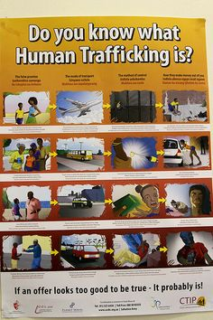 Human Trafficking awareness poster