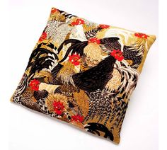 Roosters Tapestry Cushion
