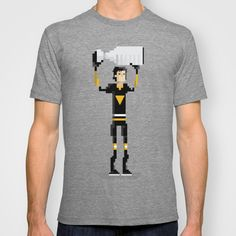 Pittsburgh Hockey T-shirt by John Trivelli | Society6 Mario Lemieux