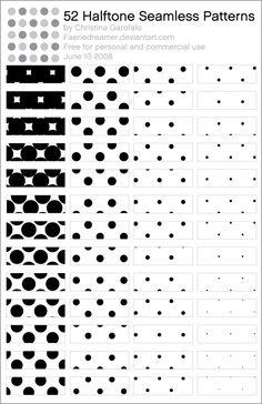 52 Halftone Patterns by Faeriedreamer.deviantart.com on @deviantART