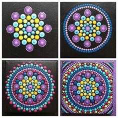 Creativity is the way I share my soul with the world. ~ Brene Brown SOLD #howtopaintamandala • • • • #valsmandalas #mandala #progress #howto #color #ilovetopaint #sunday #stages #purple #dotart #wip #dots #lotsofdots #soul #meditation #zen #symmetry