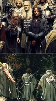 The Three Hunters, Legolas's apology. Just another reason I love him.