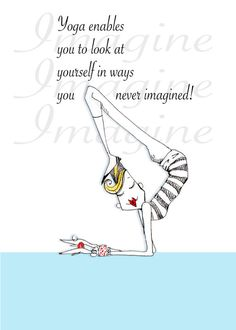 Yoga Imagination Humor Print by ColleneKennedy by VanityGallery, $10.00