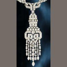 An art deco diamond necklace, circa 1930