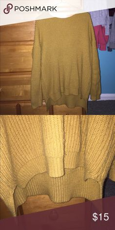 OVERSIZED SWEATER Yellow forever 21 sweater that is very warm and comfortable Forever 21 Tops Sweatshirts & Hoodies