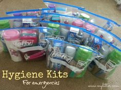 How to make a Hygiene Kit for Emergencies!