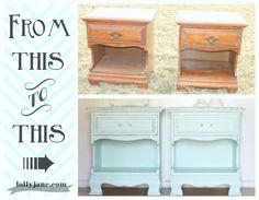 Aqua nightstands. #DIY #furniture