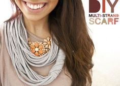 DIY Scarf. So simple and so chic!