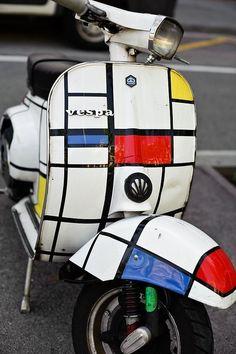 Mondrian Vespa pinned with Bazaart