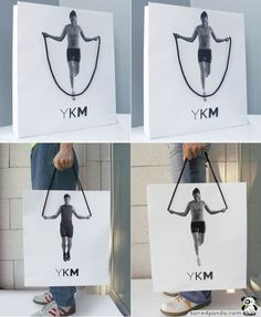YKM bag - great packaging design.