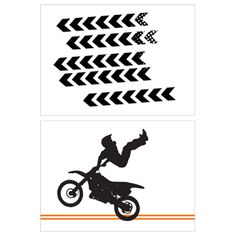Motorcycle Birthday Party Printables by I Heart to Party