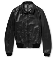 Dolce & Gabbana - Leather Bomber Jacket.