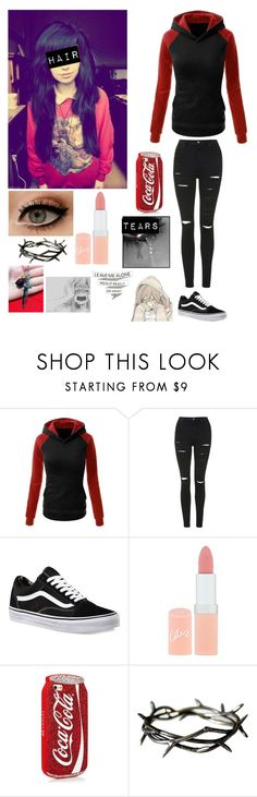 """""""I feel confused, sad, jealous, rejected, lost..."""" by masteremo9099 ❤ liked on Polyvore featuring Topshop, Vans and Rimmel"""