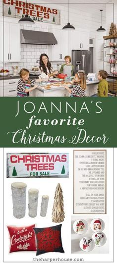 Find out where to buy Joanna's favorite Fixer Upper Christmas decor to create this same warm farmhouse Christmas feel in your home | http://www.theharperhouse.com