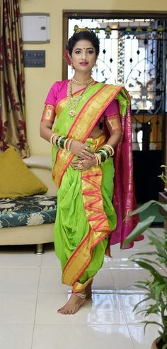 Marathi Saree, Marathi Bride, Kashta Saree, Sarees, Nauvari Saree, Saree Photoshoot, Saree Wedding, Pretty Woman, Desi