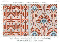 free retro cross stitch pattern