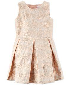 Carter's Little Girls' Sleeveless Pink Floral Jacquard Dress - Girls 2-6X - Kids & Baby - Macy's