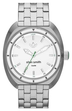 adidas Originals 'Stan Smith' Bracelet Watch, 42mm