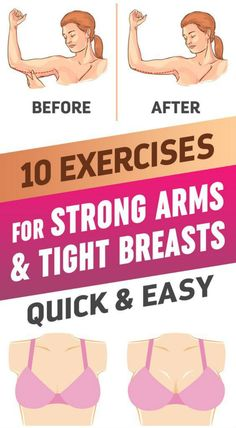 Do you would like to have beautiful arms and firm breasts? Try to perform 10 Moves, which can help you lift your breasts and strengthen your arms. This exercises were created by a French TV hostess an Breast Muscle, Fitness Tips, Health Fitness, Fitness Fun, Strong Arms, Lose Weight, Weight Loss, Lose Fat, Chest Muscles