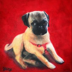 Oh. My. God. Becky. Look at. That. Pug. / oil on canvas. https://ift.tt/2JyC3fl