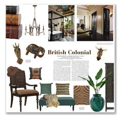british colonial by artplusdesign liked on polyvore featuring interior interiors interior - Artisan Home Decor