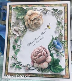 Tattered Lace Cards, Anna Griffin Cards, Create And Craft, Lace Flowers, Card Making, Arts And Crafts, Bloom, Floral, How To Make