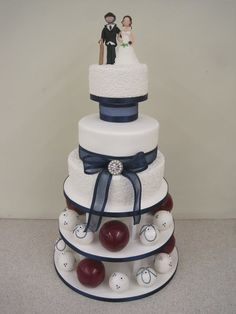 Cricket themed wedding cake - Cakes For All UK