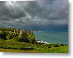 Castle Metal Print featuring the photograph Dunluce Castle In Northern Ireland by Andreas Berthold