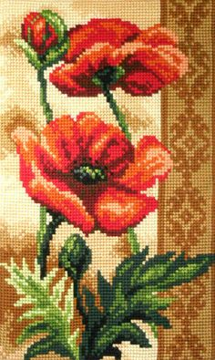 Knitting, crochet, embroidery, sewing and tons of inspiration for your next project. Cross Stitch Bird, Cross Stitch Flowers, Cross Stitching, Cross Stitch Embroidery, Cross Stitch Patterns, Bed Quilt Patterns, Flower Painting Canvas, Hand Embroidery Videos, Silk Ribbon Embroidery