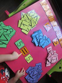 Hoy os presento un nuevo material con el que vamos a trabajar muchas cosas: secuencia numérica, asociación cantidad-grafía, conjuntos ... Toddler Learning, Toddler Preschool, Math Worksheets, Math Activities, Kinder Mat, Maths Investigations, Maths Area, Homeschool Math, Homeschooling