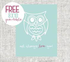 Through the Eyes of the Mrs.: FREE 8x10 Owl Printable