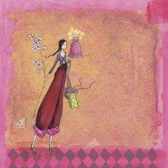 """Carte carrée Gaëlle Boissonnard """"Cadeaux, fleurs et gâteau"""""""
