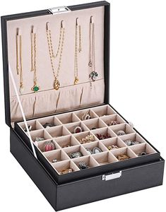 Earring Jewelry Boxes Organizer Holder For Cufflinks, Rings, Pendants, Chain - 6 Earring Jewelry Box, Big Jewelry, Small Earrings, Jewelry Case, Pendant Jewelry, Jewelry Accessories, Fashion Accessories, Travel Jewelry Organizer, Jewelry Organization