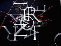 ✍ Sensual Calligraphy Scripts ✍  initials, typography styles and calligraphic art -  massimo polello