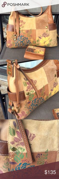 Fossil rare vintage bag with matching wallet Vary good condition for it's age,wallet like new Fossil Bags Shoulder Bags