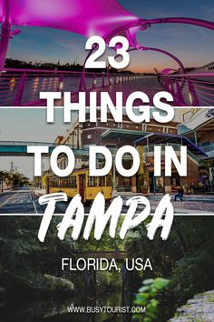 23 Best & Fun Things To Do In Tampa (Florida) Wondering what to do in Tampa, Florida? This travel guide will show you the top attractions, best activities, places to visit & fun things to do in Tampa, FL. Start planning your itinerary and bucket list now! Tampa Florida, Florida Beaches, Clearwater Beach Florida, Kissimmee Florida, Naples Florida, Ways To Travel, Places To Travel, Travel Destinations, Florida Travel Guide