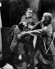 """Son of Frankenstein"" Boris Karloff, Bela Lugosi (1939)"