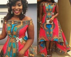 Dashiki dress high low dress african print by CoCoCremeCouturier