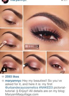 Gorgeous rose colored eye makeup for Valentine's Day or a date!