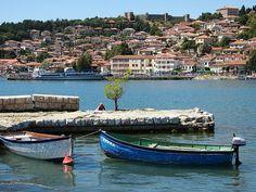 Lake Ohrid, Macedonia! I was here- sooo beautiful :) Macedonia Ohrid, Republic Of Macedonia, Travel Tours, Eastern Europe, Places Around The World, Croatia, Vacation Spots, Beautiful World, Beautiful Places