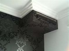 Wide stripe black cream china grey silver striped for Grey feature wallpaper bedroom